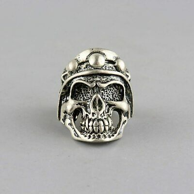 Collect China Old Miao Silver Hand-Carved Ferocious Skull Exorcism Decorate Ring