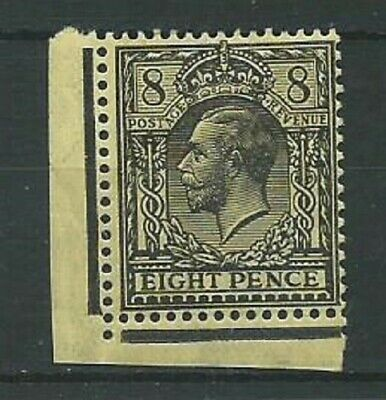 GB KGV 1917 8d black on yellow-bluff SG391 MINT with gum hinged (4307)