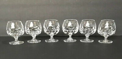 Set Of 6 Atlantis Cut Crystal Snifter Brandy Cognac Whiskey Evora Pattern