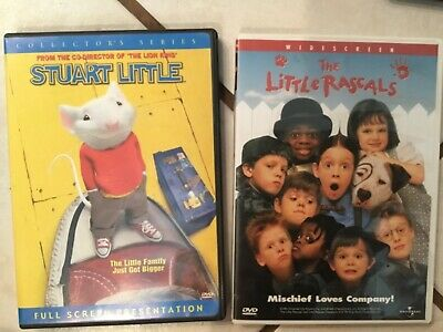 "Set of 2 family friendly DVDS ""Stuart Little"" and ""The Little Rascals"""