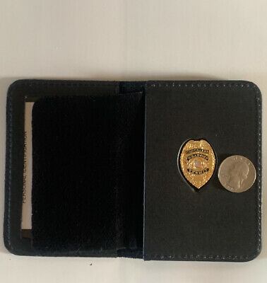 Concealed Weapons Carry Permit GOLD Pin Wallet And ID Case