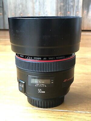 Canon EF 50mm F/1.2 L USM Lens with hood