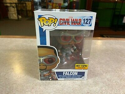 Funko POP! Figure NIB Marvel Civil War FALCON HOT TOPIC #127