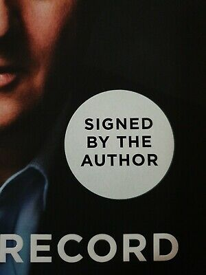 1st edition & signed FOR THE RECORD by David Cameron autobiography UK politics
