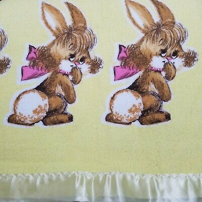 60 Satin Standing Rabbit Bunny Applique//Easter//bow//trim//doll//pink//yellow L29