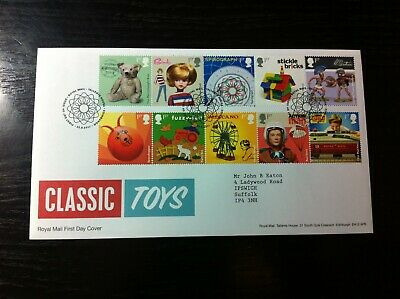 New19/4 - 2017 - Gb Fdc - Classic Toys