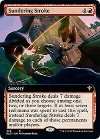 MTG Magic: The Gathering Throne Of Eldraine Sundering Stroke (Extended Art)