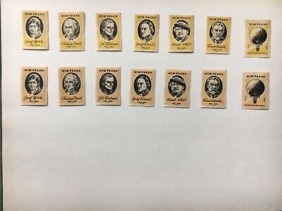 """Matchbox Labels Czechoslovakia Very Old Vintage """"Poetry"""" Lot Of 14"""