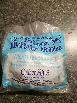McDonalds Halloween GHOST McBoo Nugget Buddies McNugget Happy Meal 1992 Costume