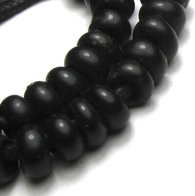 39 Rare Gorgeous Small Old Black Padre Antique Beads