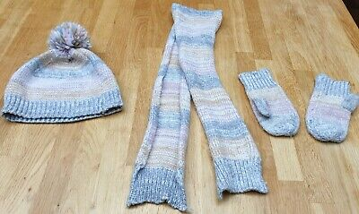Girls Age 3-6 years Hat, Glove & Scarf Set Marks And Spencer