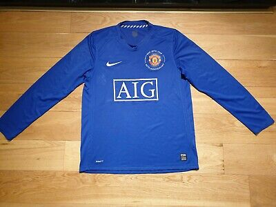 Mens Nike Manchester United Third long sleeves football shirt 2008 - 2009 Size M