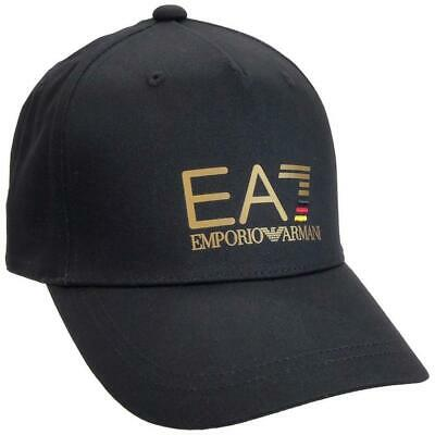 armani ea7 black logo baseball sports cap genuine stock brand new bagged/tagged