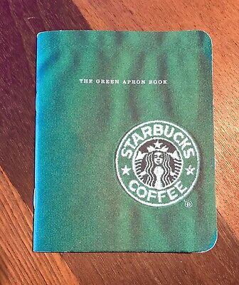 Starbucks Coffee Employee Green Apron Book Authentic Barista Guide