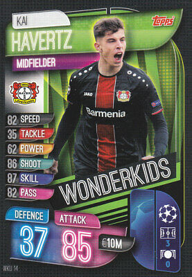 TOPPS MATCH ATTAX CL 2019-20 - Kai Havertz - B.Leverkusen -# WKU 14 - WONDERKIDS