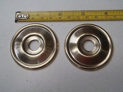 2 x 52 mm DIAMETER ANTIQUE STYLE BRASS FURNITURE/DOOR KNOB BACK PLATES -NO HOLES