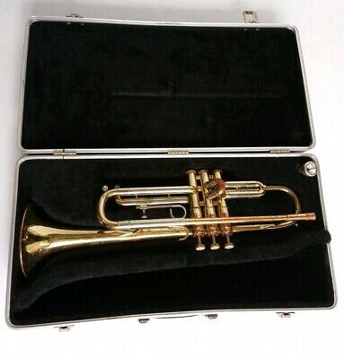 Getzen 300 Series Trumpet 5C Mouth Piece & Case WORKS!