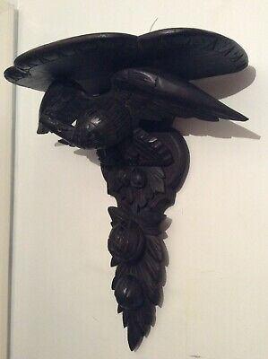Very large Carved American Eagle Wall Bracket / Clock Bracket