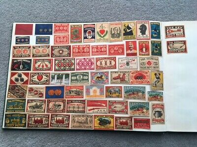 """Matchbox Labels Sweden Vintage """"Different Small Sets And Singles"""" Lot Of 62"""