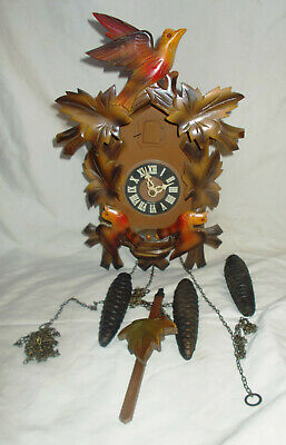 Black Forest Germany Cuckoo Clock For Parts With 3 Birds