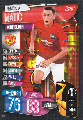 TOPPS MATCH ATTAX EUROPA League 2019-20 - Nemanja Matic - Manchester Utd - # 99