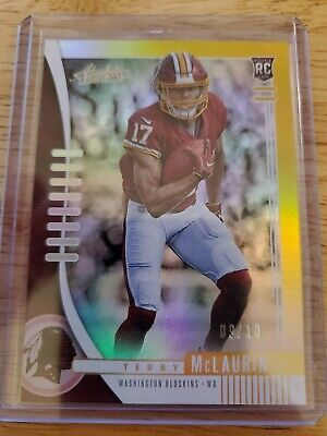 Terry McLaurin Absolute 2019 Gold Rookie /10 Washington Redskins Panini NFL
