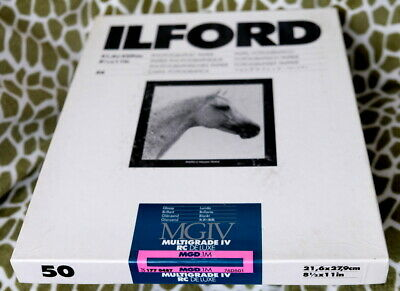 ILFORD MGD.1M 8-1/2 X 11 (50-Sheets) Multigrade-IV RC Deluxe Glossy