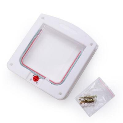 H3E# 4 Way Locking Pet Cat Kitty Small Dog Doggy Puppy Flap Safe Door Tunnel Lot