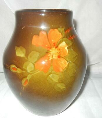 """Early 7"""" Roseville Pottery Rozane Hand Painted Vase"""