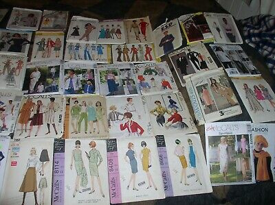 50 CT.Vintage Sewing Patterns 1950s & UP Vogue- McCALLS- SEE PHOTOS - SOME $20