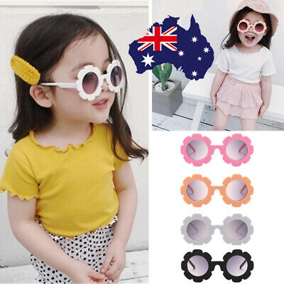Retro Unisex Baby Fashion Flower Kids Sunglasses Anti UV Children Sunglasses AU