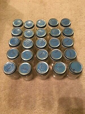 Baby Food Jars - Heinz with Blue Lids - Qty 25
