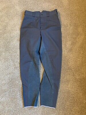 NEW Real Leather Full Seat German Goodfellow Breeches Gray US size 30/German 42