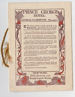 Prince George Hotel 5th Ave New York Guest brochure 1914 Beautifully illustrated