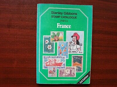 Stanley Gibbons vintage stamp catalogue No6 France 3rd edition 1987