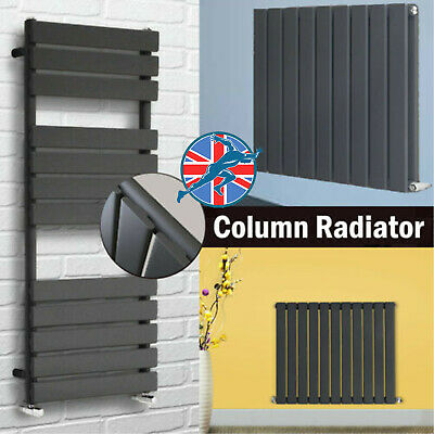 Horizontal Vertical Oval Column Flat Radiator Central Heating Anthracite / White