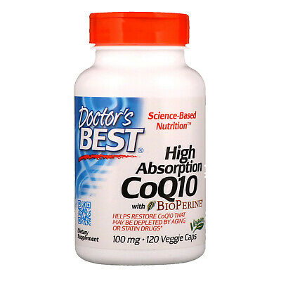 Coenzyme Q10 with Bioperine 100mg x120 Veg Capsules | High Absorption CoQ10