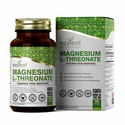 Magnesium L-Threonate | 500mg 90 Veg Capsules | Bioavailable Form For The Brain