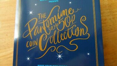 2019 the christmas pantomime 50p coin set of 5 in folder B uncirculated
