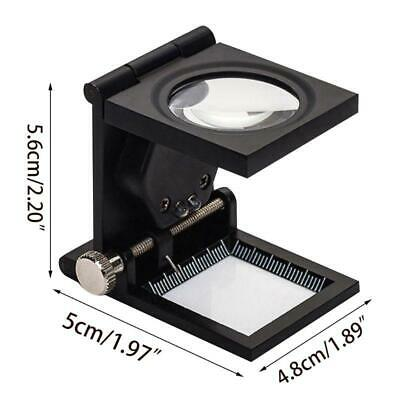 Double LED Light Optical Glass Lens Black Spray Paint 905A Magnifying Glass