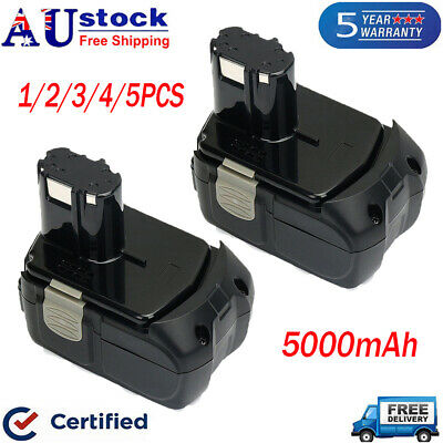 18V 5.0Ah Battery For Hitachi EBM1830 BCL1830 BCL1815 Lithium-Ion Cordless Tools