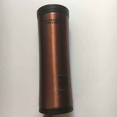 Starbucks Stainless Steel Coffee Tumbler Copper 16 oz Double Wall Cup
