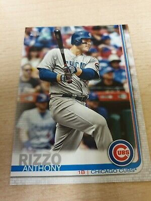 Topps 2019 Baseball #596 Anthony Rizzo Chicago Cubs