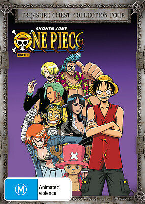 One Piece (Uncut) Treasure Chest Collection 4 Dvd New
