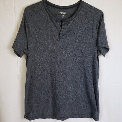 Old Navy Vintage Style Henley Short Sleeve Gray Size Large