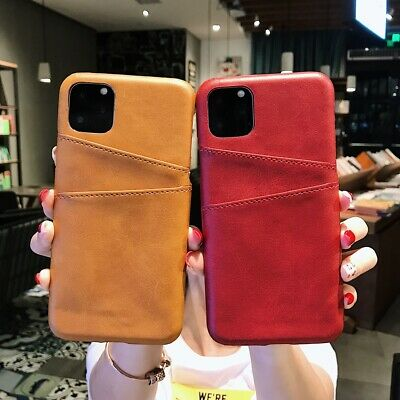 Wallet Case Leather Slim Cover with 2 Card Slots for iPhone 11 XS MAX XR 6 7 8