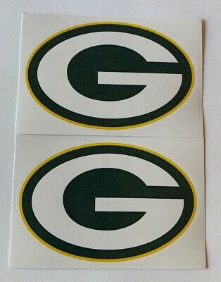 NFL Green Bay Packers Lot of 2 Football Indoor Decal Stickers
