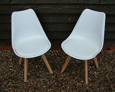 Excellent Brand New Pair Of Chloe Homebase White Dining Chairs On Caraccident5 Cool Chair Designs And Ideas Caraccident5Info
