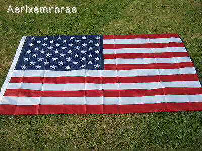 Flag American Us Ft Usa Stars Grommets Stripes Embroidered 3x5 Sewn Brass U S Ny