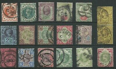 GB QV 1887-1900 'Jubilee Issue' part set good used (4352)